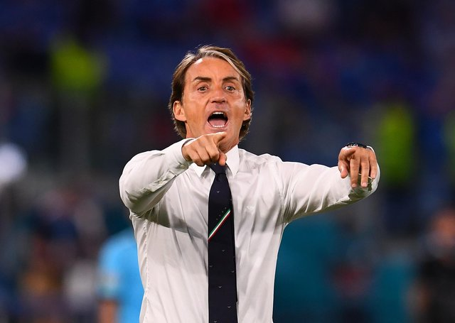 Italy head coach Roberto Mancini pictured during the Azzurri's Euro 2020 campaign. (Pic: Getty Images)