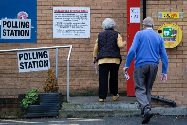 Voters in Hartlepool headed to the polls to vote in the general election on December 12, 2019 in Hartlepool (Photo by Ian Forsyth/Getty Images)
