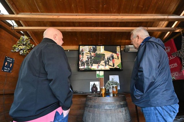 While good weather managed to tempt many in England out to recently reopened pubs, some were lucky enough to be able to combine the two (Photo: GLYN KIRK/AFP via Getty Images)