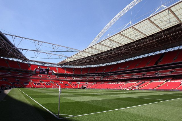Wembley has a partially retractable roof that can be used to allow more sunlight onto the playing surface to help preserve and maintain the condition of the pitch. (Pic: Getty)