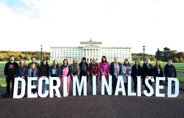 Pro-choice supporters gathered at Stormont in Belfast in October 2019, as the liberalisation of abortion laws came into force. The commissioning of abortion services has been sporadic and strained since the decriminalisation. (Picture: Getty Images)