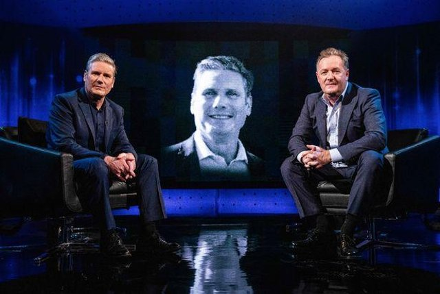 Piers Morgan's latest guest was Labour leader Sir Keir Starmer (Picture: ITV)