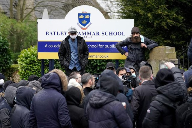 A teacher has been suspended at Batley Grammer School after showing pupils a caricature of the prophet Muhammad (Getty Images)