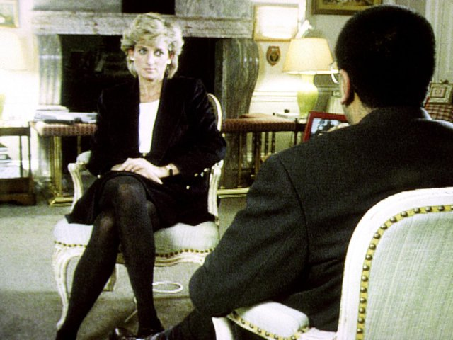 Diana, Princess of Wales, during her interview with Martin Bashir for the BBC