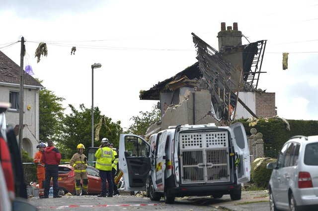The scene this morning at Mallowdale Avenue, Heysham (Photo: SWNS)