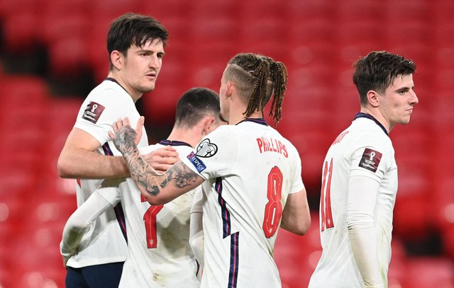 England's player ratings from the latest World Cup 2022 Qualifiers (Photo by ANDY RAIN/POOL/AFP via Getty Images)
