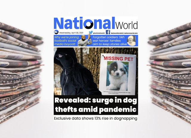 The digital front page of NationalWorld for 28 April