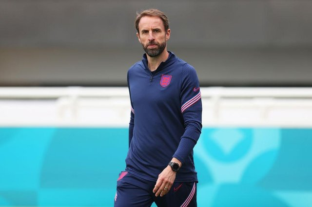 Gareth Southgate, Head Coach of England. (Photo by Catherine Ivill/Getty Images)