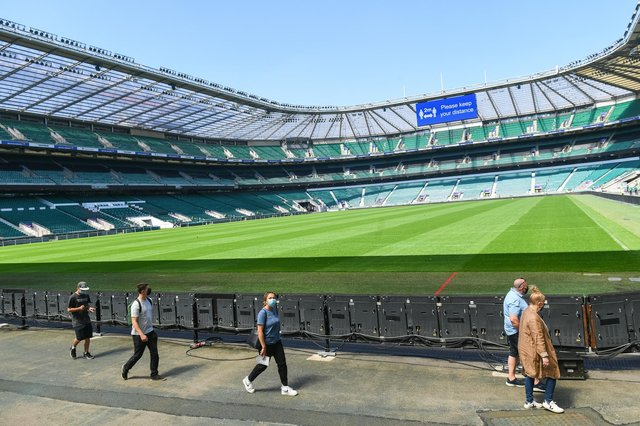 Thousands of people descended on Twickenham Rugby Stadium on Monday (31 May) (Photo: PA)