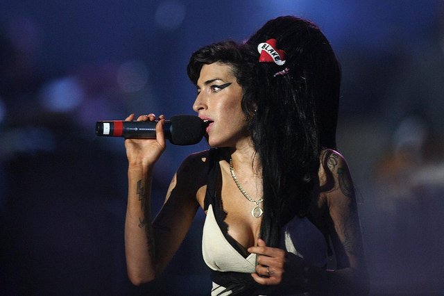 Amy Winehouse performing during the 46664 concert in celebration of Nelson Mandela's life at Hyde Park on 27 June 2008  (Photo: Dan Kitwood/Getty Images)