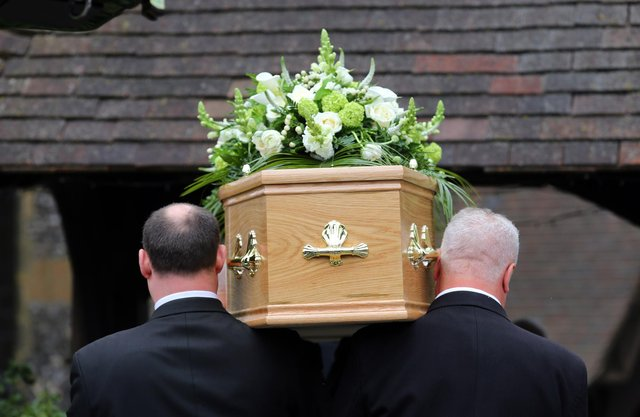 The limit on the number of mourners who can attend funerals is to be lifted in England (PA).