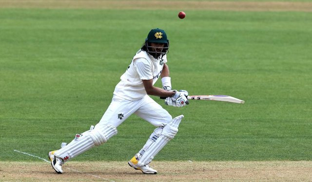 Haseeb Hameed made his second century of the match against Worcestershire.