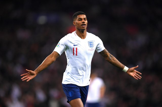 England star Marcus Rashford has hit out at The Spectator magazine. (Photo by Laurence Griffiths/Getty Images)