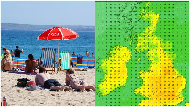 The coming days could see Brits bask in the sun as temperatures surge in some areas (Credit: Getty/The Weather Outlook)