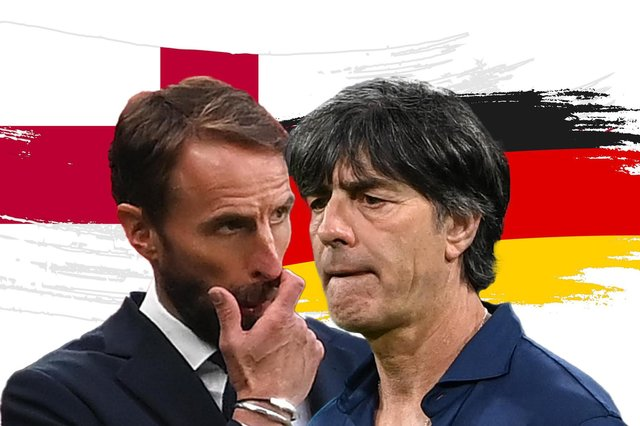 Gareth Southgate goes head to head with opposite number Joachim Low.