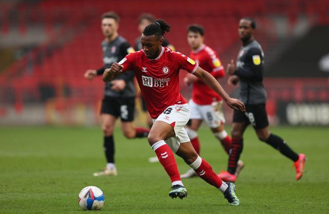 Antoine Semenyo of Bristol City. (Photo by Marc Atkins/Getty Images)