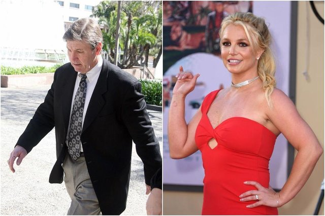 Britney's father Jamie Spears had been in control of the singer's financial and personal affairs, before stepping down from the latter role in 2019 (Photos: VALERIE MACON/AFP via Getty Images)