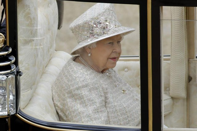 The ceremony of Trooping the Colour takes place in June each year and is attended by the Queen, to celebrate her birthday (Picture Getty Images)