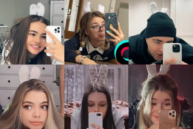 In many cases, these challenge videos don't just end with users successfully adorning their scalps with podiatric protrusions... (Photos: TikTok)