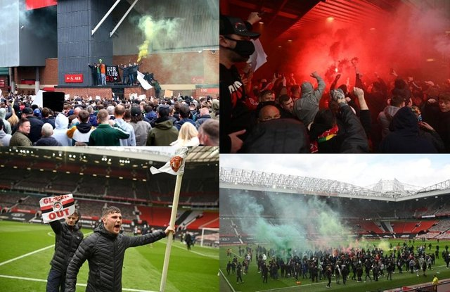 Manchester United fans were protesting against club owners the Glazer family (Getty Images/PA)