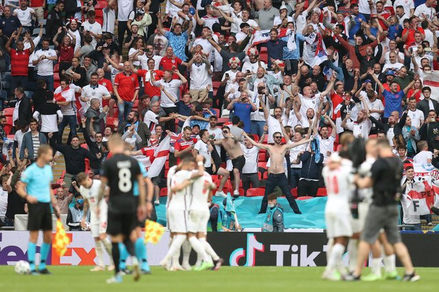 Sweet Caroline was sung by the Wembley Stadium crowd after England's Euro 2020 last 16 win over Germany. (Pic: Getty)
