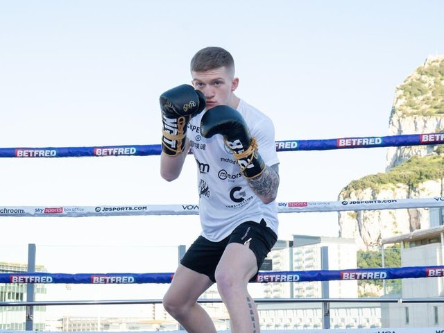 Hatton has been preparing for his debut ahead of Saturday's event (Picture: Dave Thompson/Matchroom Boxing)