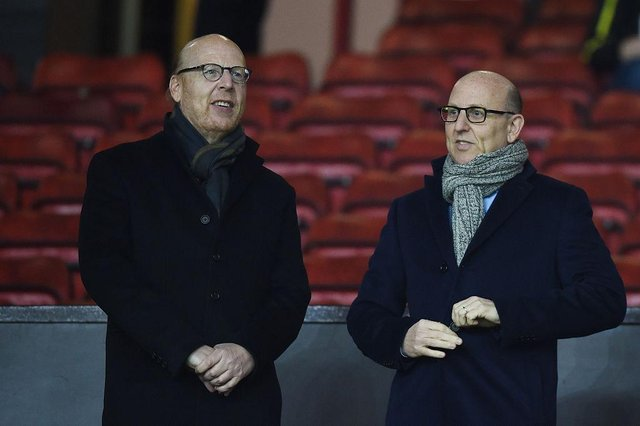 Avram Glazer (L) and Joel Glazer, the Co-Chairmen of Manchester United.  (Photo by Michael Regan/Getty Images)