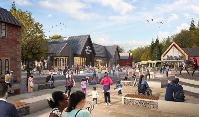 "Lomond Banks developers have promised ""a world-class waterfront tourist destination"" (Lomond Banks)"