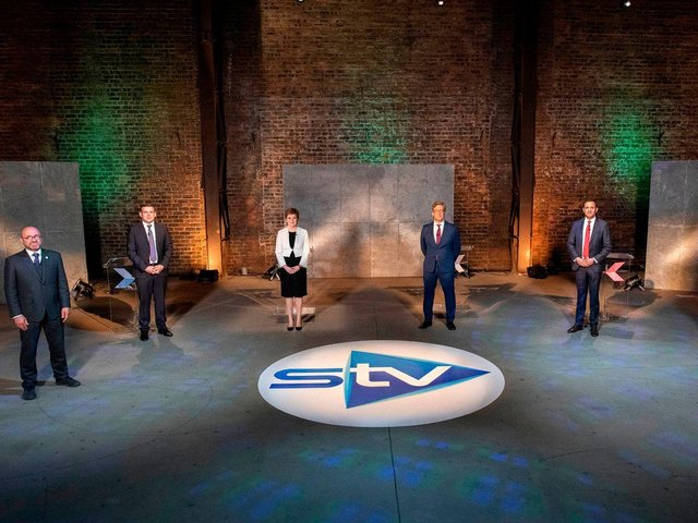 Five of Scotland's political leaders squared off on Tuesday night (STV)