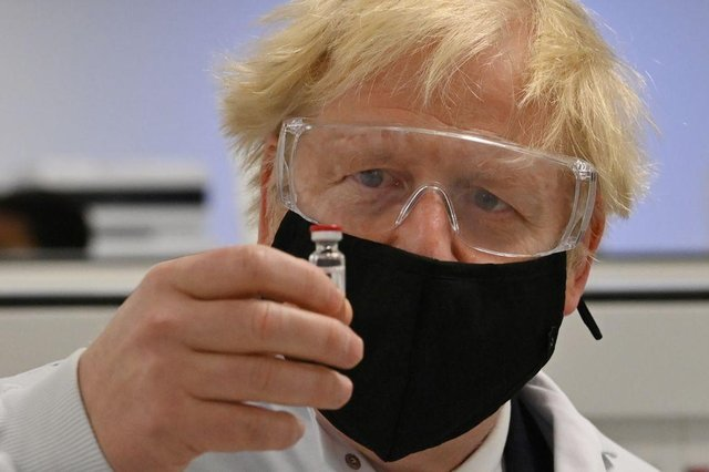 Prime Minister Boris Johnson has said that people should continue to come forward to receive their vaccines (Photo: PAUL ELLIS/POOL/AFP via Getty Images)