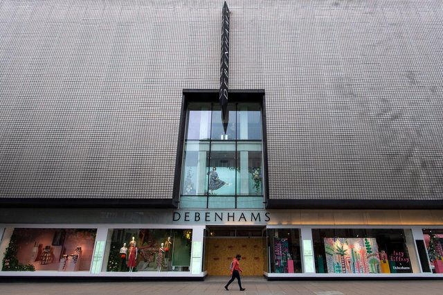 Debenhams department store (pictured on London's Oxford Street) has been a staple on the British high street for centuries. (Justin Setterfield/Getty)