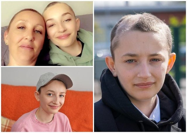 Ella's parents, Shaun and Joanne, called on the school to allow the Year 9 pupil to wear a baseball cap and hoodie during the school day (SWNS)