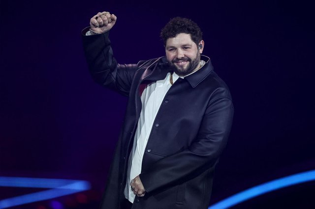 James Newman appears on stage during the second semi-final of the 65th edition of the Eurovision Song Contest 2021 (Getty Images)
