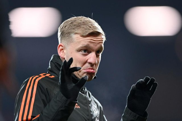 Donny van de Beek of Manchester United. (Photo by Laurence Griffiths/Getty Images)