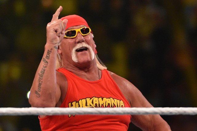 WWE Hall of Famer Hulk Hogan, pictured, will host WrestleMania 37 alongside Titus O'Neil. (Pic: Getty)