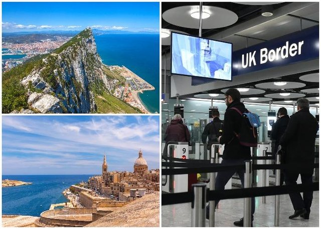 Malta and Gibraltar are set to be included on the UK government's 'green list' after May 17 (Shutterstock)