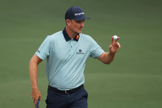 Justin Rose shot a level-par 72 on day two at The Masters.  Picture: Kevin C. Cox/Getty Images
