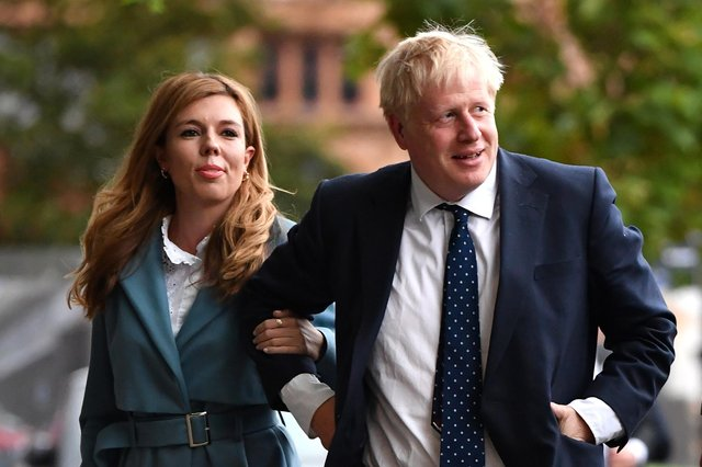 Carrie Symonds and fiance Boris Johnson (Jeff Mitchell/Getty Images)