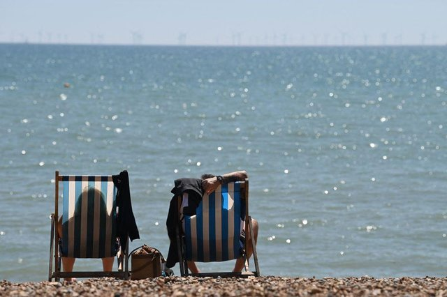 Brits have been heading to the beach following a return of warm weather (Getty Images)