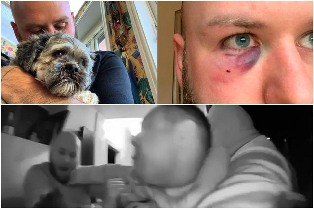 Dog theft: Police investigating after man fights off three intruders on his doorstep who were trying to steal his dogs (Photos: SWNS)