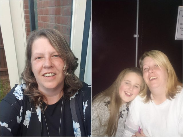 Mum to four children, Michelle McKay pictured with her daughter Ellie, is fundraising for her funeral costs.