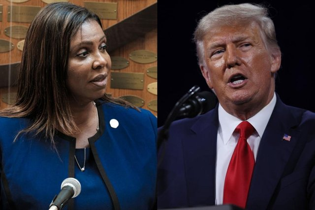 Ms James has accused Trump's company of covering up wrongful financial dealings (Picture: Getty Images)
