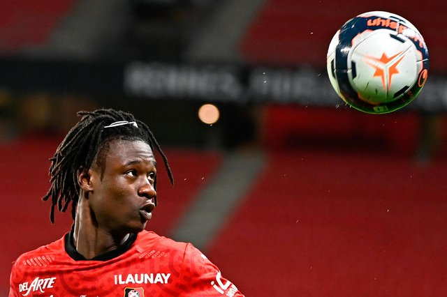 Rennes sensation Eduardo Camavinga has been linked with the likes of Manchester United, Real Madrid and Arsenal, as he looks to secure a big transfer move this summer.