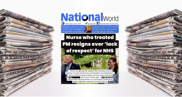 Boris Johnson's intensive care nurse quits NHS over treatment of health workers- NationalWorld digital front page (Photo: NationalWorld)