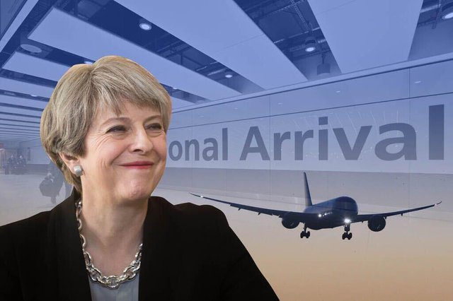 Theresa May called for international travel to resume after hospitality from Heathrow worth £67k (Graphic: Kim Mogg/NationalWorld)