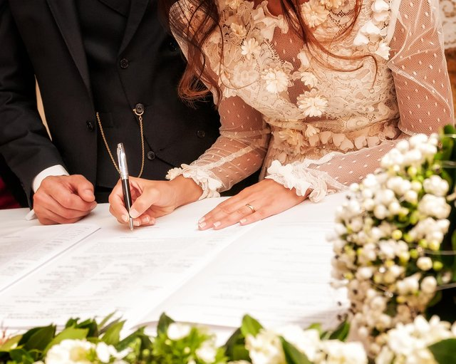 The Home Office has made new changes to the registration system - which means mothers of brides and grooms can sign the marriage certificate (Shutterstock).