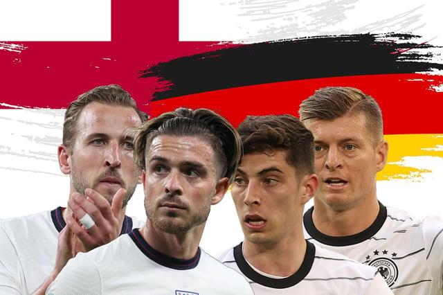 England take on germany at Euro 2020