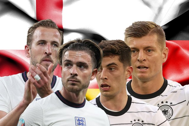 England andGermany will meet in the Round of 16 at the 2021 Euros in front of 40,000 fans. (Graphic: Mark Hall / JPIMedia)