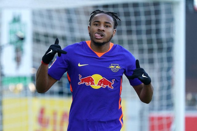 Christopher Nkunku.  (Photo by Thomas Niedermueller/Getty Images)