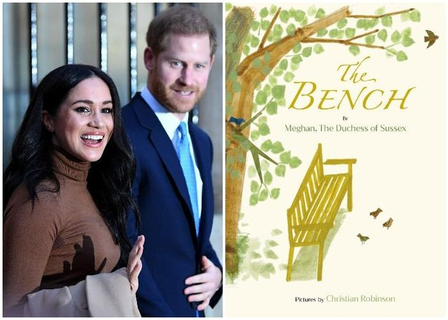 Meghan's debut publication, called The Bench is released today (Getty Images and Penguin Random House)